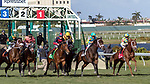 HALLANDALE BEACH, FL - JAN 06: Flameaway #1 with Julien Leparoux in the irons rockets out of the starting gate on the way to winning The $100,000 Kitten's Joy Stakes for trainer Mark E. Casse at Gulfstream Park on January 6, 2018 in Hallandale Beach, Florida. (Photo by Bob Aaron/Eclipse Sportswire/Getty Images)