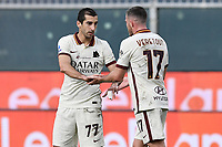 Henrikh Mkhitaryan of AS Roma celebrates after scoring a goal during the Serie A football match between Genoa CFC and AS Roma at Marassi Stadium in Genova (Italy), November 11th, 2020. Photo Image Sport / Insidefoto