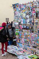 Peru, Cusco.  Corner News Stand.