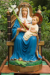 The Walsingham Pilgrimage. A statue of Our lady of Walsingham, Little Walsingham.  North Norfolk, England 2006.