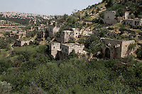 A general view of the ruins of Lifta, a Palestinian village in the outskirts of Jerusalem, who fled in 1948. Mr Odea is part of a campaign to save the village, the last standing Palestinian village of its kind, from being turned into a luxury Israeli neighborhood,  Photo by Quique Kierszenbaum