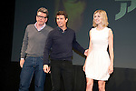 """January 9, 2013, Tokyo, Japan - (L-R) Christopher McQuarrie, Tom Cruise and Rosamund Pike pose on stage during a press conference for """"Jack Reacher"""" in Tokyo on Wednesday, January 9, 2013. McQuarrie, Cruise and Pike are in Japan to promote the movie """"Jack Reacher"""" which is entitled """"Outlaw"""" for the Japanese market. The movie will be released on February 1st in Japan. (Photo by Rodrigo Reyes Marin/AFLO)"""