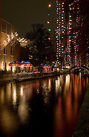 A vertical image of the San Antonio Riverwalk