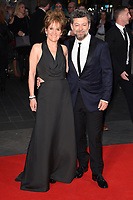 """director, Andy Serkis and wife, Lorraine Ashbourne<br /> arriving for the London Film Festival 2017 screening of """"Breathe"""" at the Odeon Leicester Square, London<br /> <br /> <br /> ©Ash Knotek  D3318  04/10/2017"""