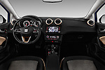 Stock photo of straight dashboard view of 2016 Seat Ibiza ST Style 5 Door Wagon Dashboard