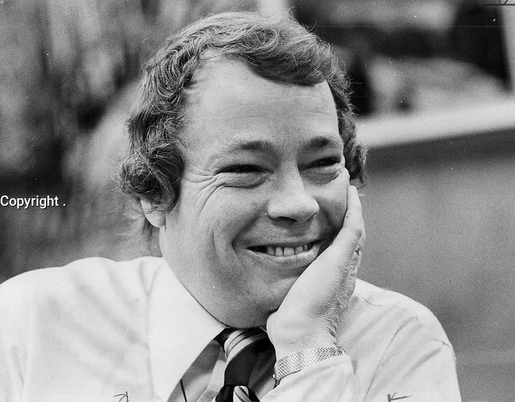 Looking forward to one more term as Toronto mayor, David Crombie says he'll not run in 1978 unless the city's threatened.<br /> <br /> Griffin, Doug<br /> Picture, 1973,