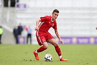 Orlando, Florida - Saturday January 13, 2018: Xavier Gomez. Match Day 1 of the 2018 adidas MLS Player Combine was held Orlando City Stadium.