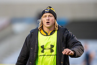 27th December 2020; AJ Bell Stadium, Salford, Lancashire, England; English Premiership Rugby, Sale Sharks versus Wasps;  Tommy Taylor of Wasps the former Shark warms up in the first half