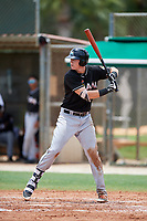GCL Marlins first baseman Sean Reynolds (34) at bat during the second game of a doubleheader against the GCL Nationals on July 23, 2017 at Roger Dean Stadium Complex in Jupiter, Florida.  GCL Nationals defeated the GCL Marlins 1-0.  (Mike Janes/Four Seam Images)