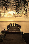 Hangin' out on the pier at sunset in Funafuti, Tuvalu