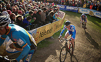 Zdenek Stybar (CZE) just behind Sven Nys (BEL) with Francis Mourey (FRA) in tow<br /> <br /> 2014 UCI cyclo-cross World Championships, Elite Men
