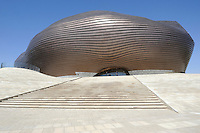 The new museum in Kangbashi district of the Chinese city of Ordos, Inner Mongolia. 12-May-2011