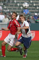 Morten Bisgaard, left, Bobby Convey, right, Denmark vs. USA, 2004.