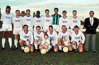 Barking Football Club team group prior to the Essex Senior Cup Final against Southend United, played at Dagenham FC - 09/04/90 - MANDATORY CREDIT: Gavin Ellis/TGSPHOTO - Self billing applies where appropriate - Tel: 0845 094 6026