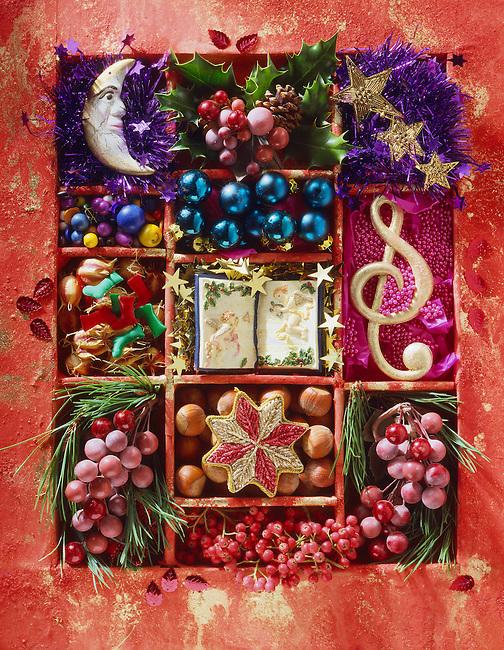 festive Christmas decorations.