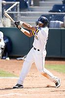 Everett AquaSox outfielder Mario Yepez #24 at bat during a game against the Eugene Emeralds at Everett Memorial Stadium on June 26, 2011 in Everett, WA.  Eugene defeated Everett 14-4.  (Ronnie Allen/Four Seam Images)