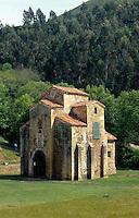San Miguel de Lillo bei Oviedo, Asturien, Spanien, Unesco-Weltkulturerbe