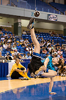 Womens Alaska high kick at the 2008 World Eskimo Indian Olympics held annually in Fairbanks, Alaska.
