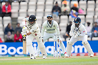 Neil Wagner, New Zealand edges to slip and is dismissed off Ravichandran Ashwin, India during India vs New Zealand, ICC World Test Championship Final Cricket at The Hampshire Bowl on 22nd June 2021