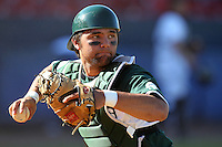 Michigan State Spartans John Martinez #3 during a game vs the Akron Zips at Chain of Lakes Park in Winter Haven, Florida;  March 12, 2011.  Michigan State defeated Akron 5-1.  Photo By Mike Janes/Four Seam Images