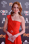 Cristina Castaño attends to the Red Carpet of the Goya Awards 2017 at Madrid Marriott Auditorium Hotel in Madrid, Spain. February 04, 2017. (ALTERPHOTOS/BorjaB.Hojas)