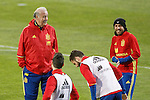 Spain's coach Vicente del Bosque and Jordi Alba during training session. March 21,2016. (ALTERPHOTOS/Acero)