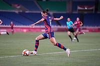 SAITAMA, JAPAN - JULY 24: Christen Press #11 of the United States moves towards the goal during a game between New Zealand and USWNT at Saitama Stadium on July 24, 2021 in Saitama, Japan.