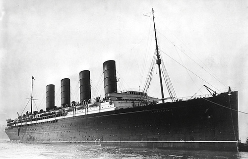 The RMS Lusitania, from the Library of Congress photographic archive