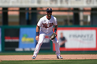Minnesota Twins third baseman Zander Wiel (12) during a Major League Spring Training game against the Pittsburgh Pirates on March 16, 2021 at Hammond Stadium in Fort Myers, Florida.  (Mike Janes/Four Seam Images)