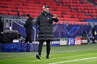 Football: Champions League, knockout round, round of 16, first leg, RB Leipzig - Liverpool FC at Puskas Arena. Liverpool coach Jürgen Klopp  on the sidelines.