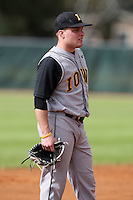 February 27, 2010:  Thrid Baseman Zach McCool (25) of the Iowa Hawkeyes during the Big East/Big 10 Challenge at Raymond Naimoli Complex in St. Petersburg, FL.  Photo By Mike Janes/Four Seam Images