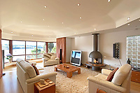 BNPS.co.uk (01202) 558833. <br /> Pic: LillicrapChilcott/BNPS<br /> <br /> Pictured: Lounge. <br /> <br /> An impressive waterfront home with panoramic views over one of Britain's most popular estuaries is on the market for £2.75m.<br /> <br /> Tregytreath is the perfect property for boat lovers, with access to the foreshore and its own private jetty onto the water.<br /> <br /> The five-bedroom house is in Restronguet Point, one of the most exclusive waterside locations in Cornwall, and this property has one of the most outstanding positions among those prestigious homes.<br /> <br /> The house was designed and built, by the current owners 20 years ago, to make the most of the beautiful views.