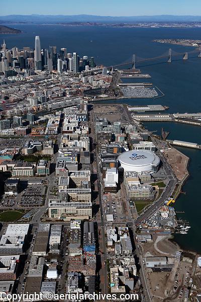 aerial photograph of the Third Street corridor, Mission Bay, San Francisco, California