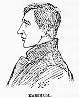 BNPS.co.uk (01202) 558833.<br /> Pic: JanBondeson/HistoryPress/BNPS<br /> <br /> Pictured: A side profile of Arthur Marshall.<br /> <br /> A historian believes he has solved the gruesome 124 year old murder of a barmaid on a London train.<br /> <br /> Elizabeth Camp was travelling to Waterloo station when she was murdered on February 11, 1897.<br /> <br /> The 33 year old's battered body was found by a carriage cleaner with her head wedged underneath a seat and her legs outstretched on the floor.<br /> <br /> Over a century later, historian Dr Jan Bondeson has pored over the evidence in the case, including police files, to try and identify her killer.<br /> <br /> He believes the person responsible for her brutal death was 25 year old Arthur Marshall, the son of a Reading publican, and has outlined his theory in his new book, Rivals of the Ripper.