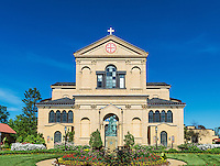 Exterior, The Memorial Church of the Holy Sepulchre, Franciscan Monastery of the Holy Land in America, Washington DC, USA