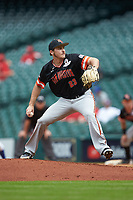 Sam Houston State Bearkats starting pitcher Hayden Wesneski (23) in action against the Kentucky Wildcats during game four of the 2018 Shriners Hospitals for Children College Classic at Minute Maid Park on March 3, 2018 in Houston, Texas. The Wildcats defeated the Bearkats 7-2.  (Brian Westerholt/Four Seam Images)