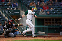 Fort Wayne TinCaps designated hitter Nick Gatewood (16) during a Midwest League game against the Quad Cities River Bandits at Parkview Field on May 3, 2019 in Fort Wayne, Indiana. Quad Cities defeated Fort Wayne 4-3. (Zachary Lucy/Four Seam Images)