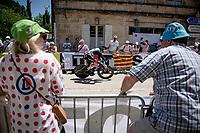 roadside views from Stage 20 (ITT) from Libourne to Saint-Émilion (30.8km): Simon Clarke (AUS:Qhubeka NextHash) passing through<br /> <br /> 108th Tour de France 2021 (2.UWT)<br /> <br /> ©kramon
