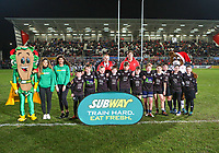 Friday 21st December 2018 | Ulster Rugby vs Munster Rugby<br /> <br /> Halftime mini-rugby during the inter-pro clash in the Guinness PRO14 League between Ulster and Munster at Kingspan Stadium, Ravenhill Park, Belfast, Northern Ireland. Photo by John Dickson / DICKSONDIGITAL