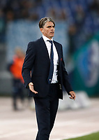 Calcio, Serie A: Roma, stadio Olimpico, 22 ottobre 2017.<br /> Cagliari's coach Diego Lopez reacts during the Italian Serie A football match between Lazio and Cagliari at Rome's Olympic stadium, October 22, 2017.<br /> UPDATE IMAGES PRESS/Isabella Bonotto