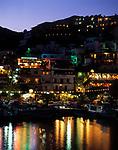 Griechenland, Kreta, Agia Galini: Hafen bei Nacht | Greece, Crete, Agia Galini: harbour at night