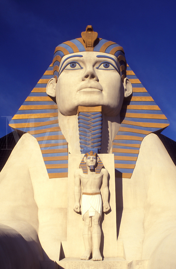 Las Vegas, Luxor, Nevada, sphinx, casino, NV, The Strip, Giant Sphinx at the entrance to Luxor Las Vegas Hotel & Casino on The Strip in Las Vegas, the Entertainment Capital of the World.