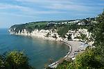 Great Britain, England, Devon, near Seaton, Beer: View over Beer beach | Grossbritannien, England, Devon, Beer bei Seaton: Atlantikkueste