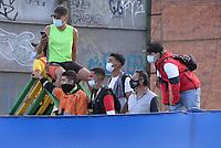 CHIA - COLOMBIA, 03 -02-2021: Fortaleza CEIF y Tigres F.C. en partido por la fecha 1 como parte del Torneo BetPlay DIMAYOR I 2021 jugado en el estadio Municipal de la ciudad de Chía. / Fortaleza CEIF and Tigres F.C. in match for the date 1 as part of BetPlay DIMAYOR Tournament I 2021 played at Municipal of Chia city. Photo: VizzorImage / Samuel Norato / Cont