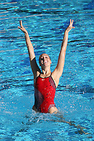 3 October 2005: Erin Bell during synchronized swimming picture day at the Avery Aquatic Center in Stanford, CA.