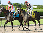 10 July 2010: Hour Glass and Jockey David Cohen after the Princess Rooney Handicap at Calder Race Course in Miami Gardens, FL.