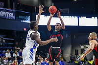 Washington, DC - March 10, 2020: Northeastern Huskies guard Tyson Walker (2) takes a shot during the CAA championship game between Hofstra and Northeastern at  Entertainment and Sports Arena in Washington, DC.   (Photo by Elliott Brown/Media Images International)