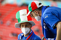 Fans aus Italien<br /> - Muenchen 02.07.2021: Italien vs. Belgien, Viertelfinale, Allianz Arena Muenchen, Euro2020, emonline, emspor, Playoffs, Quarterfinals<br /> <br /> Foto: Marc Schueler/Sportpics.de<br /> Nur für journalistische Zwecke. Only for editorial use. (DFL/DFB REGULATIONS PROHIBIT ANY USE OF PHOTOGRAPHS as IMAGE SEQUENCES and/or QUASI-VIDEO)