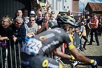 fans cheering the riders on over the Oude Kwaremont<br /> <br /> 100th Ronde van Vlaanderen 2016