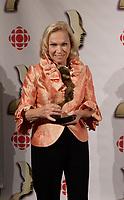 Montreal (Qc) CANADA, September 9, 2007 -<br /> Monique Mercure,<br /> Gala des Gemeaux, Palais des Congres de Montreal.<br /> <br /> photo : Pierre Roussel (c)  Images Distribution